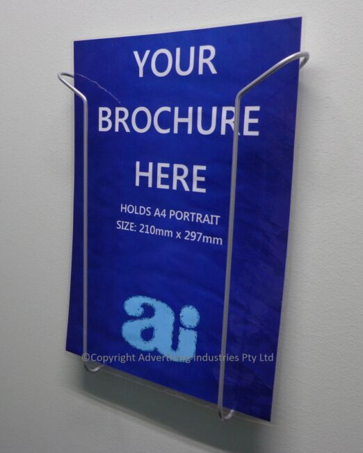 A4 Brochure Holder wire Wall Mount
