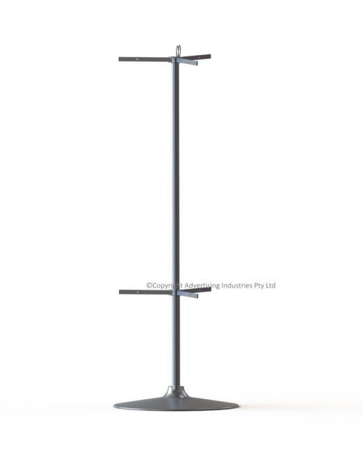 H254 6 Way Stand Bright Silver Satin